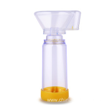 Asthma inhaler spacer for aerosol chamber